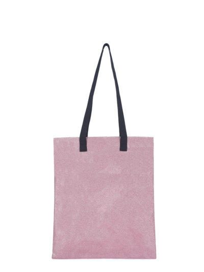 L'AURA borse handbags SHOPPING glitter rosa
