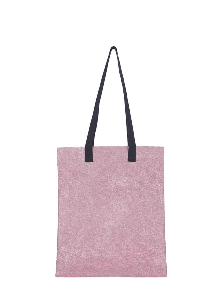 L'AURA borse handbags SHOPPING glitter rosa
