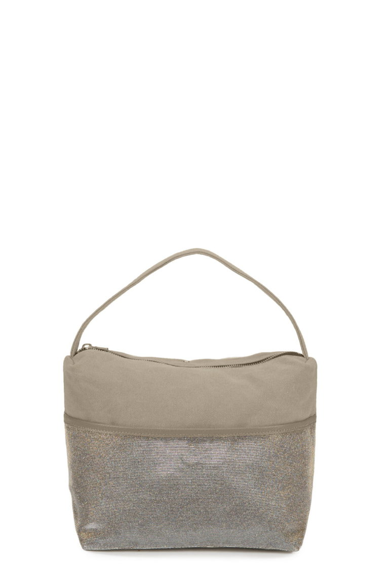 Astuccio Big Cool Canvas Taupe-Glitter Hologram