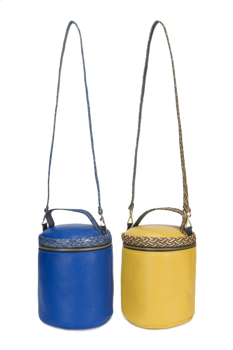 Box Bag Med. Dollarino Ischia Glitter - Blu - Giallo