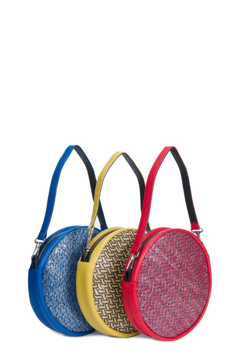 Disco Dollarino Ischia - Glitter Blu - Giallo - Rosso