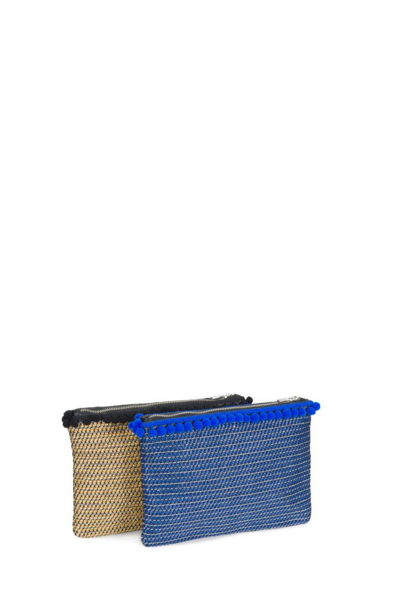 New Cherry L. Rib. Lino Glitter Cammello - Lino Glitter Blu