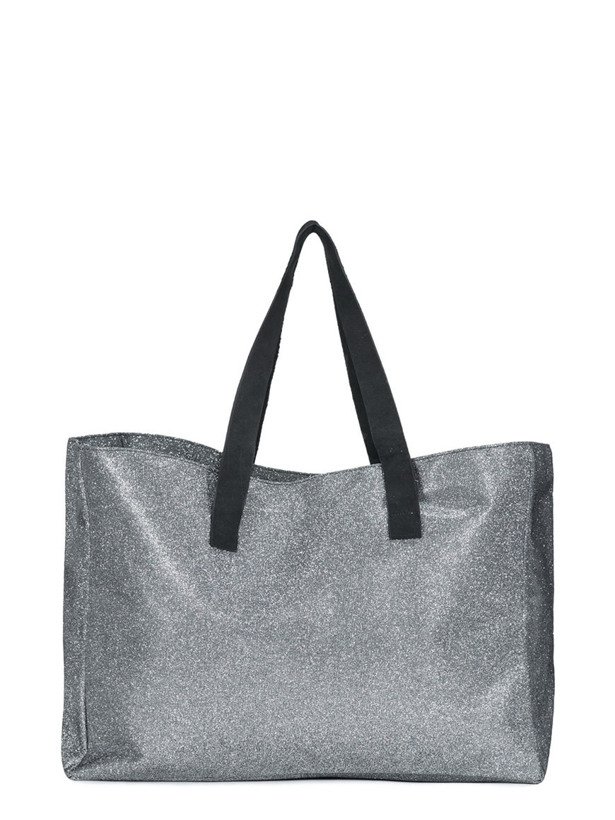 shopping extra large glitter grigio piombo