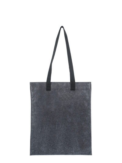 shopping small glitter grigio piombo