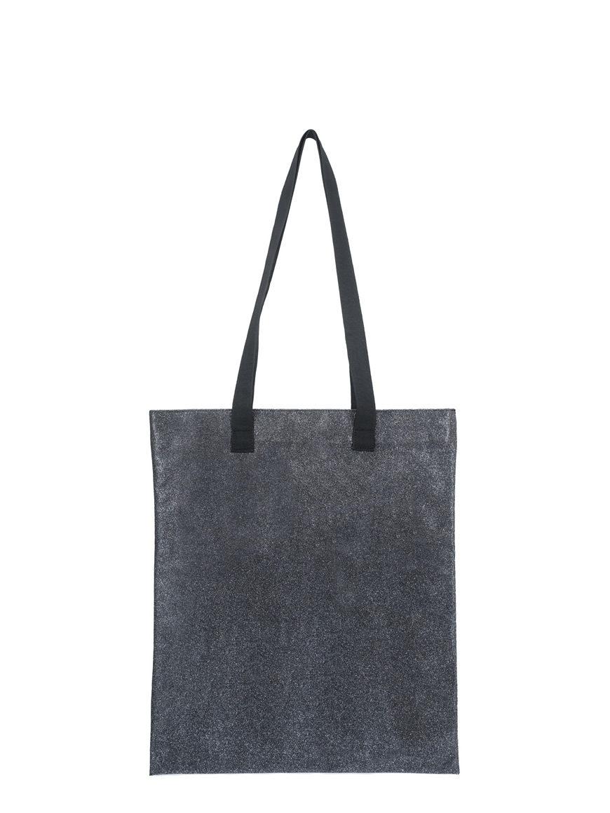 shopping small glitter grigio piombo
