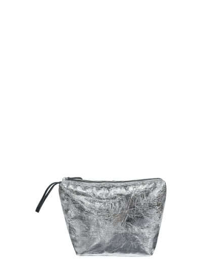 L'AURA beauty case vegan silver leather