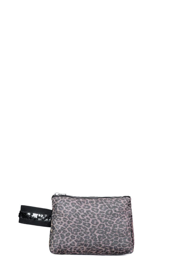 L'AURA manuela small paillette glitter leopardino rosa