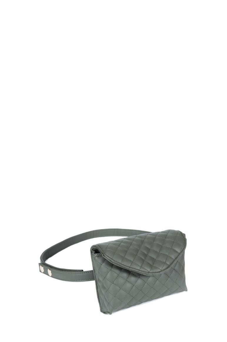 L'AURA mini bag nappina trapuntata verde