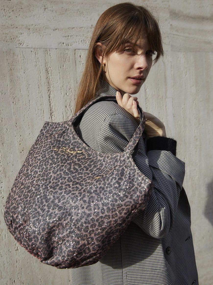 l'aura modella armando medium glitter leopardino rosa-1