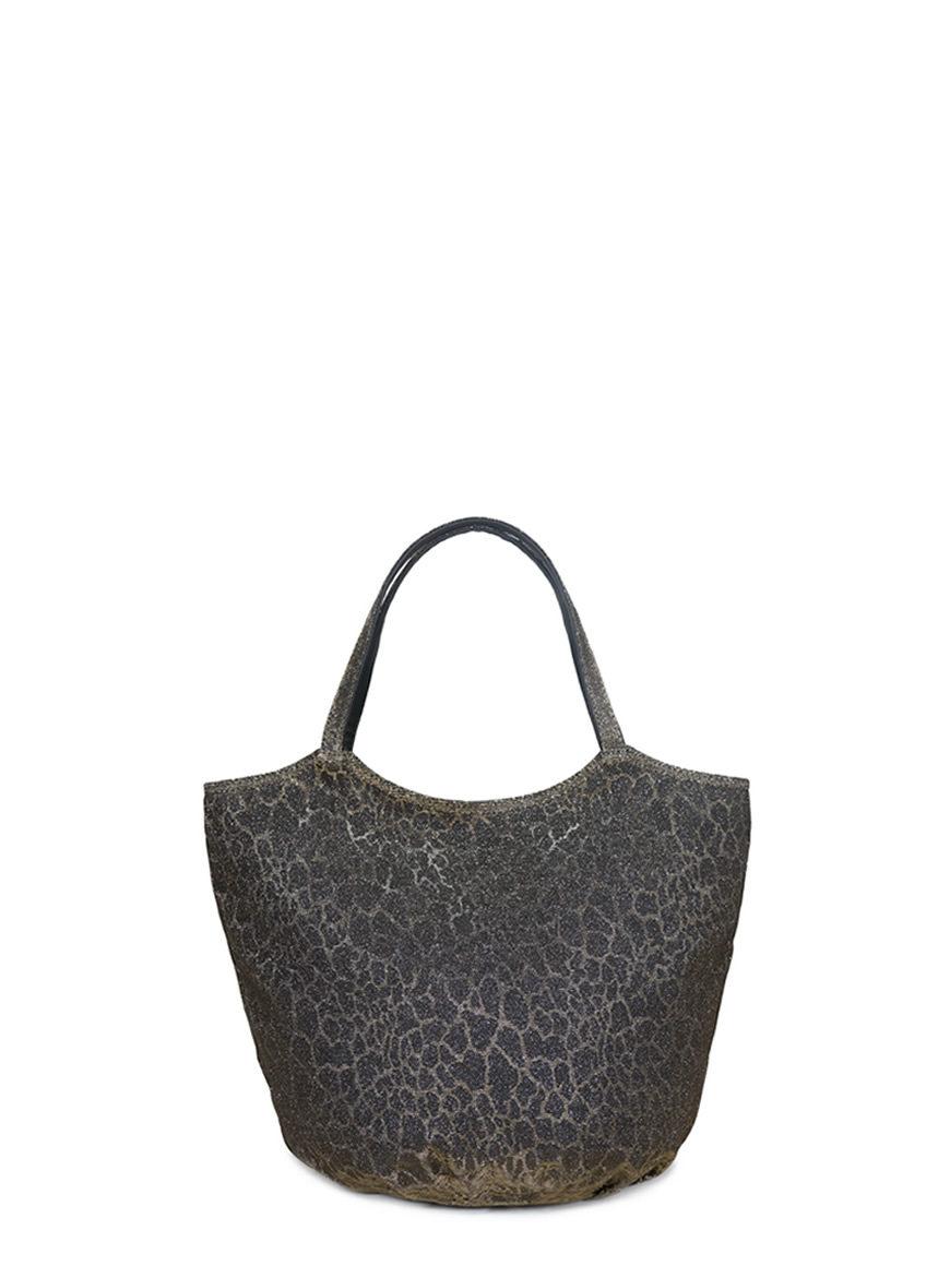 L'AURA armando medium glitter leopardino bronzo