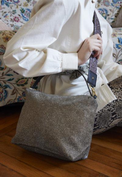 L'AURA astuccio big trac glitter glitter bronzo