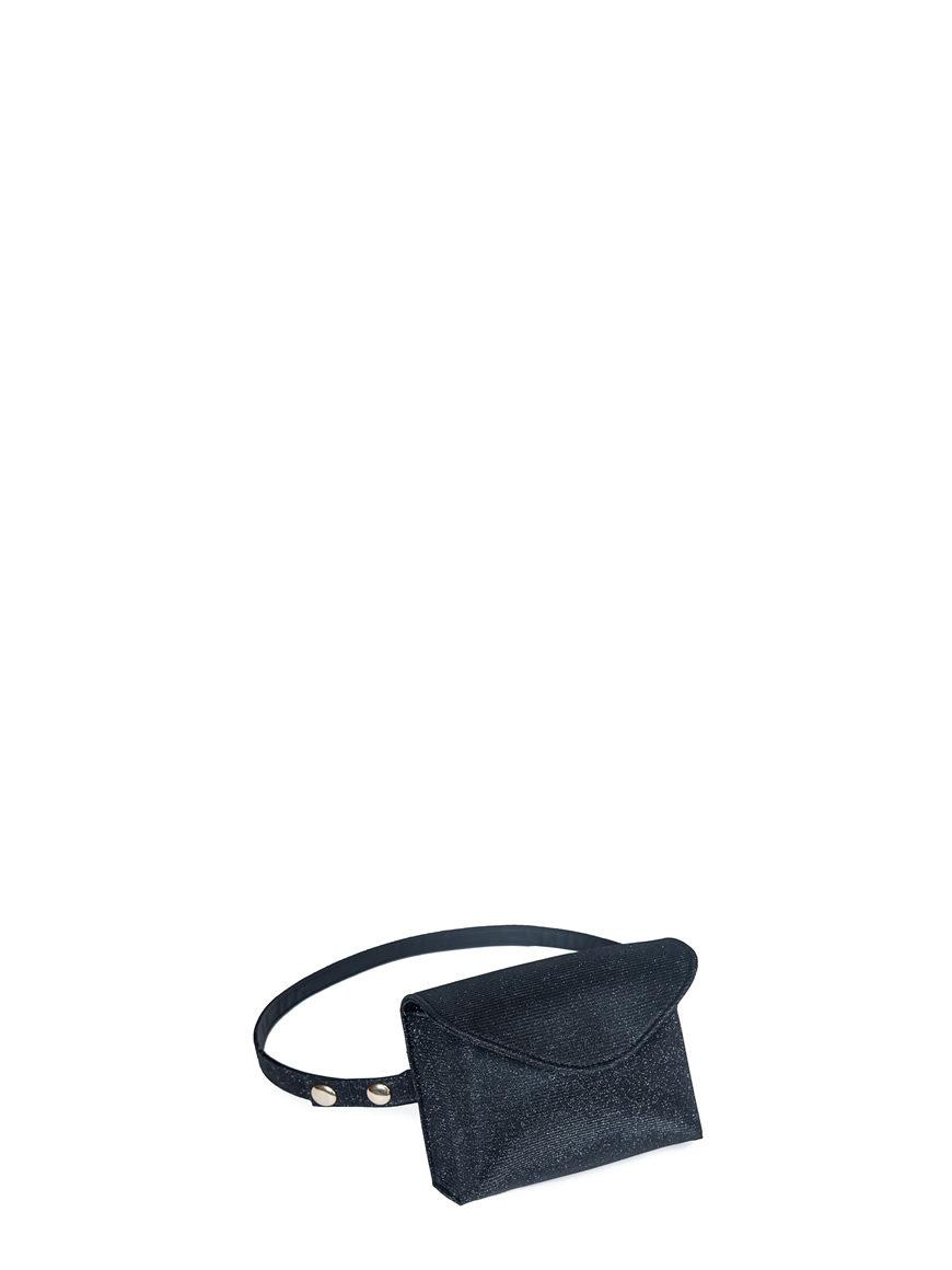 L'AURA mini bag glitter nero
