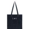 L'AURA shopping small glitter nero personalizzata