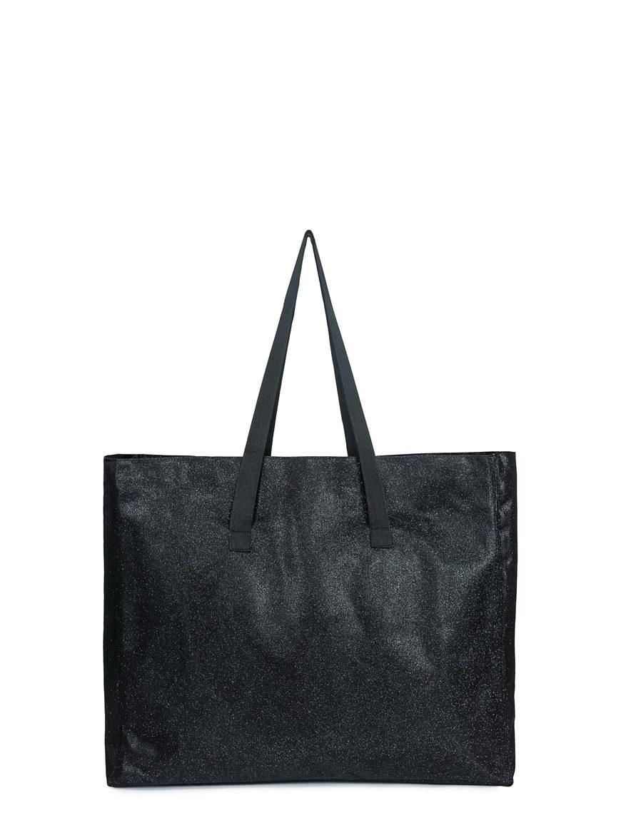 L'AURA shopping xl glitter nero