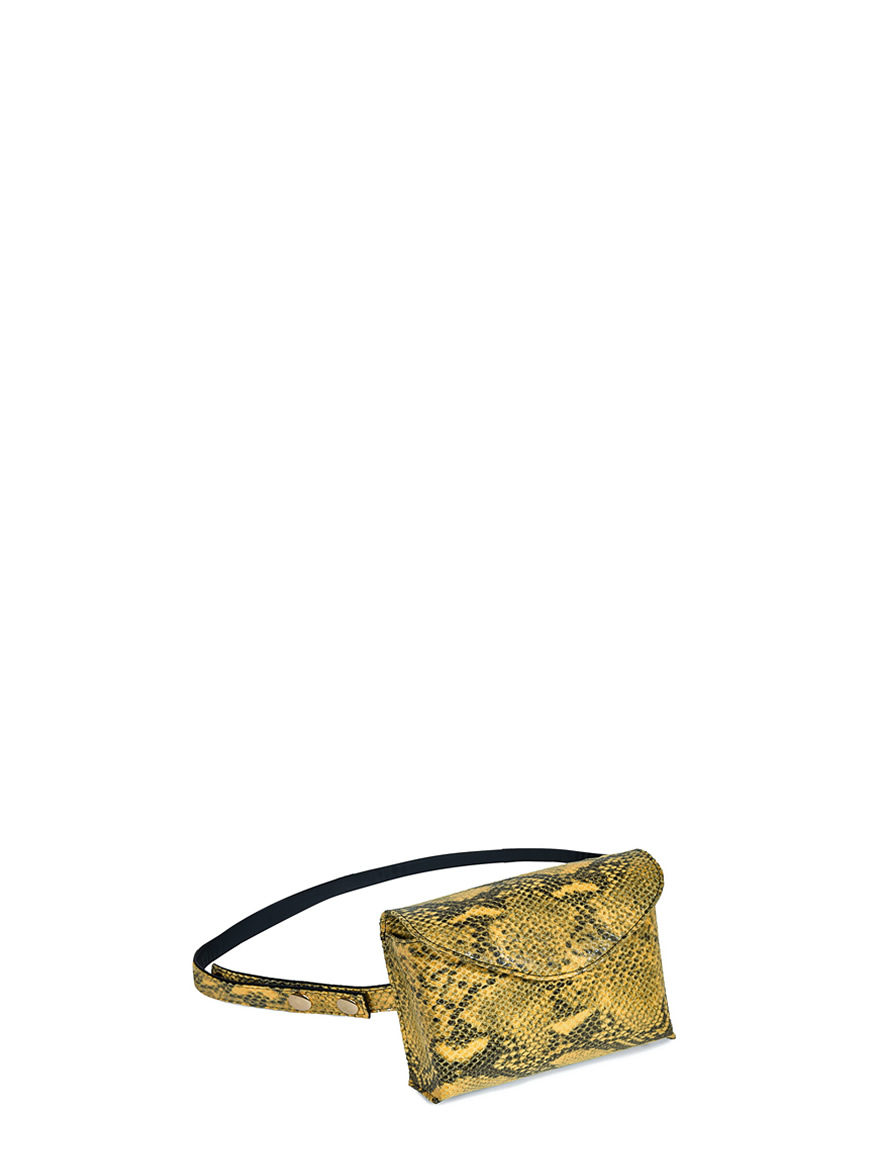 L'AURA mini bag snake giallo
