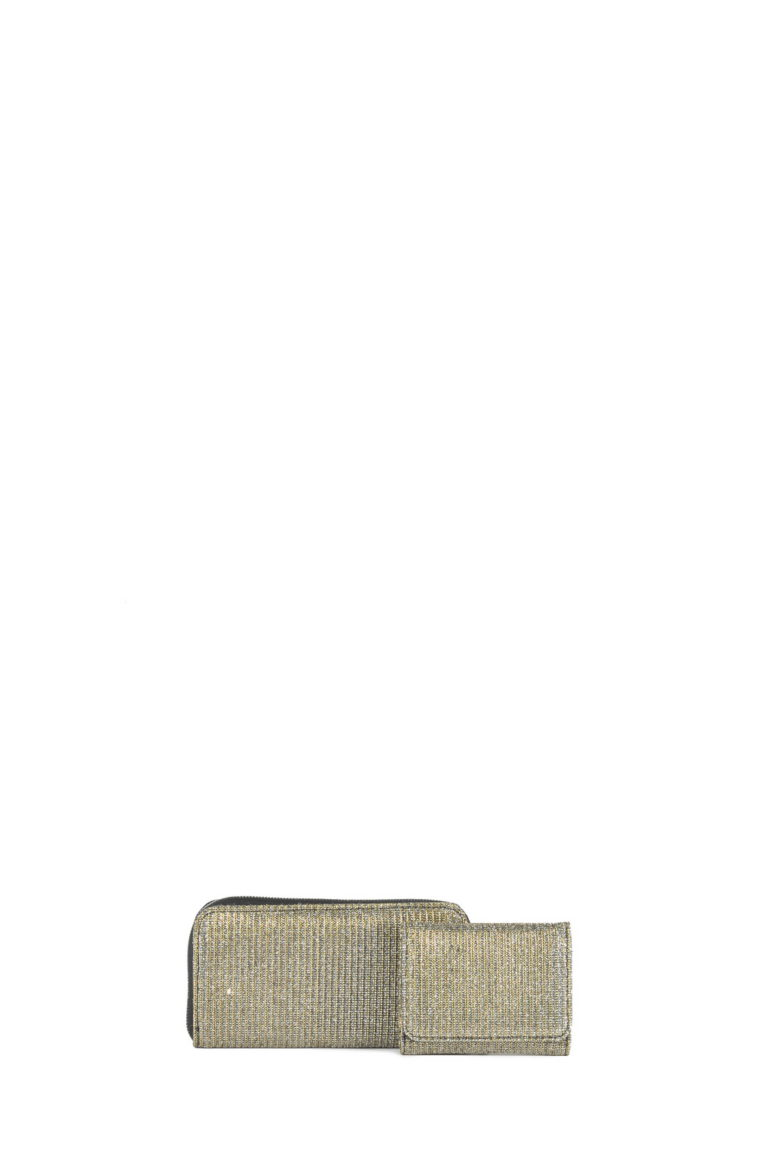 L'AURA portafoglio - portafoglio small gllitter gioy oro nero