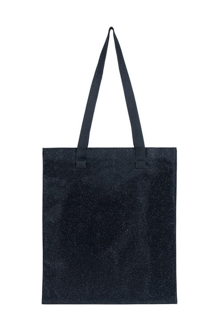 L'AURA shopping small glitter nero