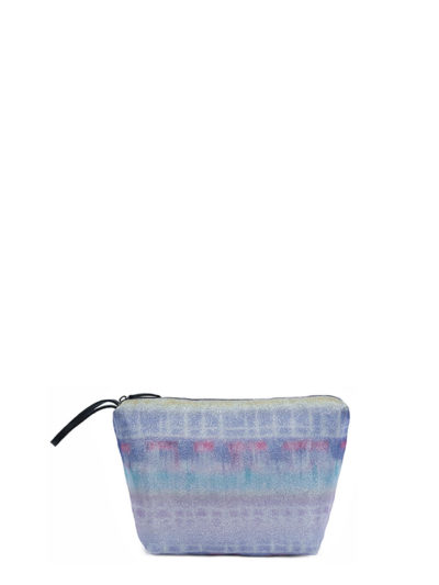 L'AURA beauty case glitter tie dye