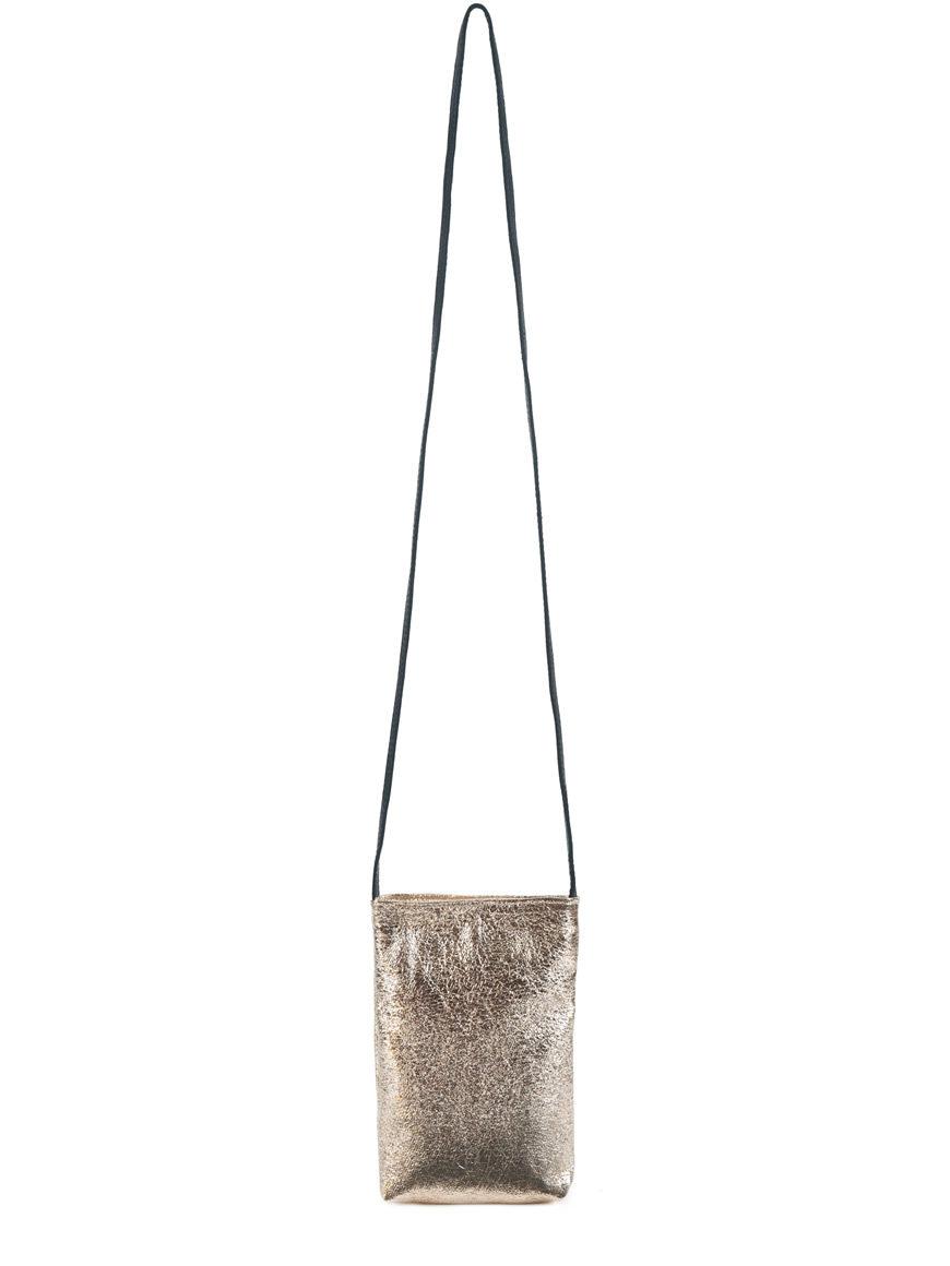 L'AURA party bag sh vegan gold leather