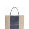L'AURA juta bag medium glitter grigio piombo