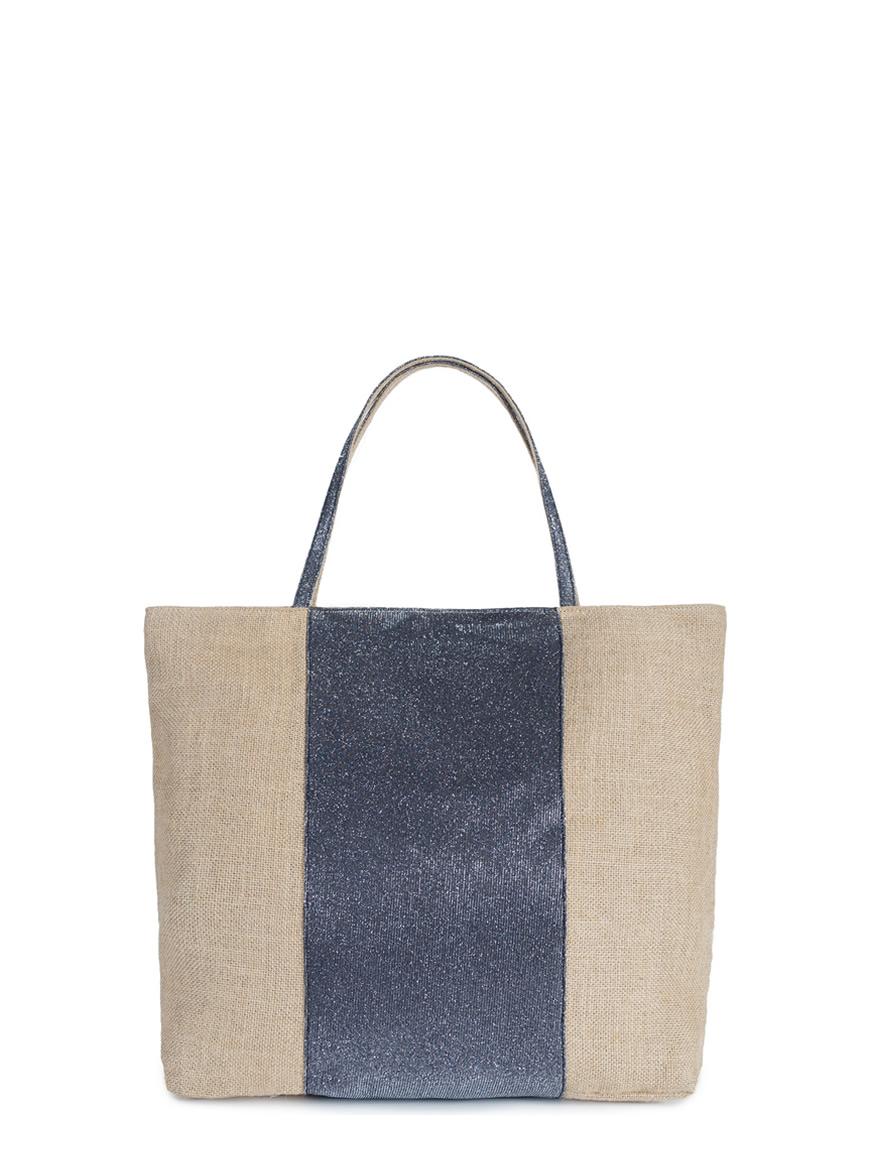 L'AURA juta bag medium glitter grigio piombo sfondo ok