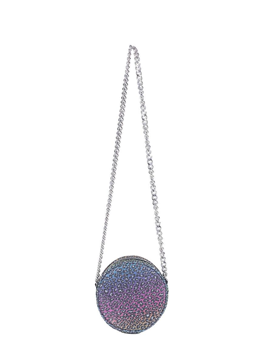 L'AURA disco small sh chain glitter maculato arcobaleno