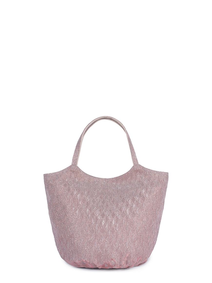 L'AURA collezione primavera estate 2021 armando medium glitter rombo rosa