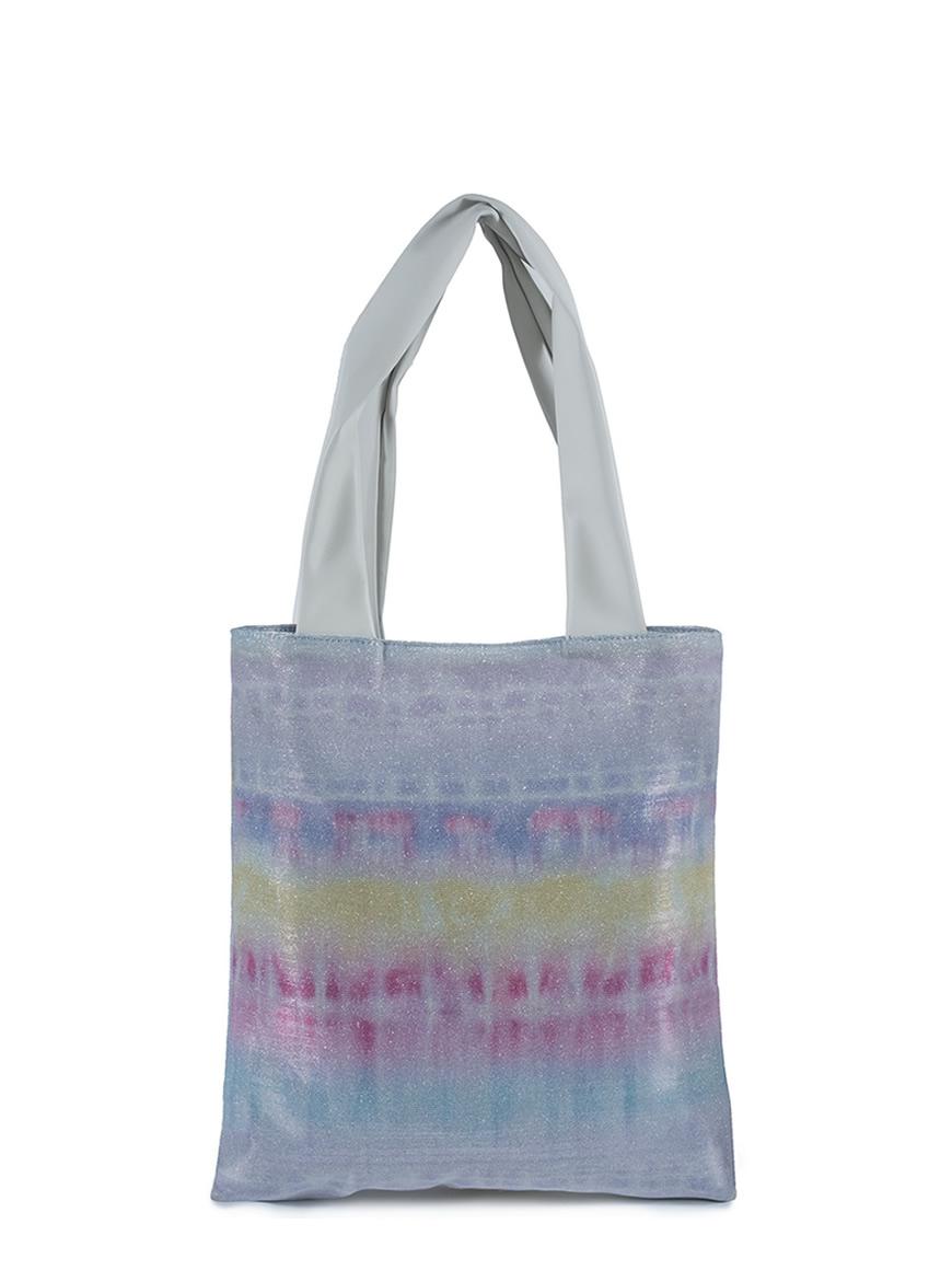 L'AURA collezione primavera estate 2021 shopping small cream - glitter tie dye