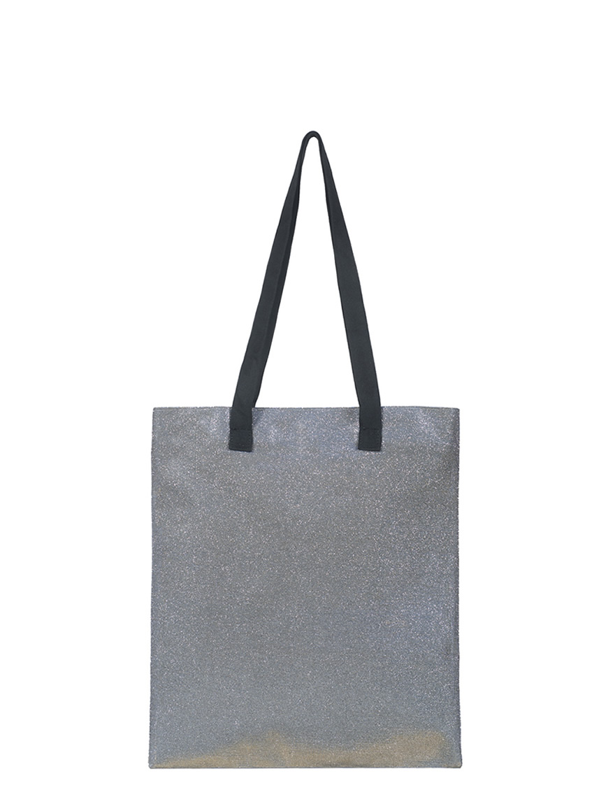 shopping small - glitter taupe