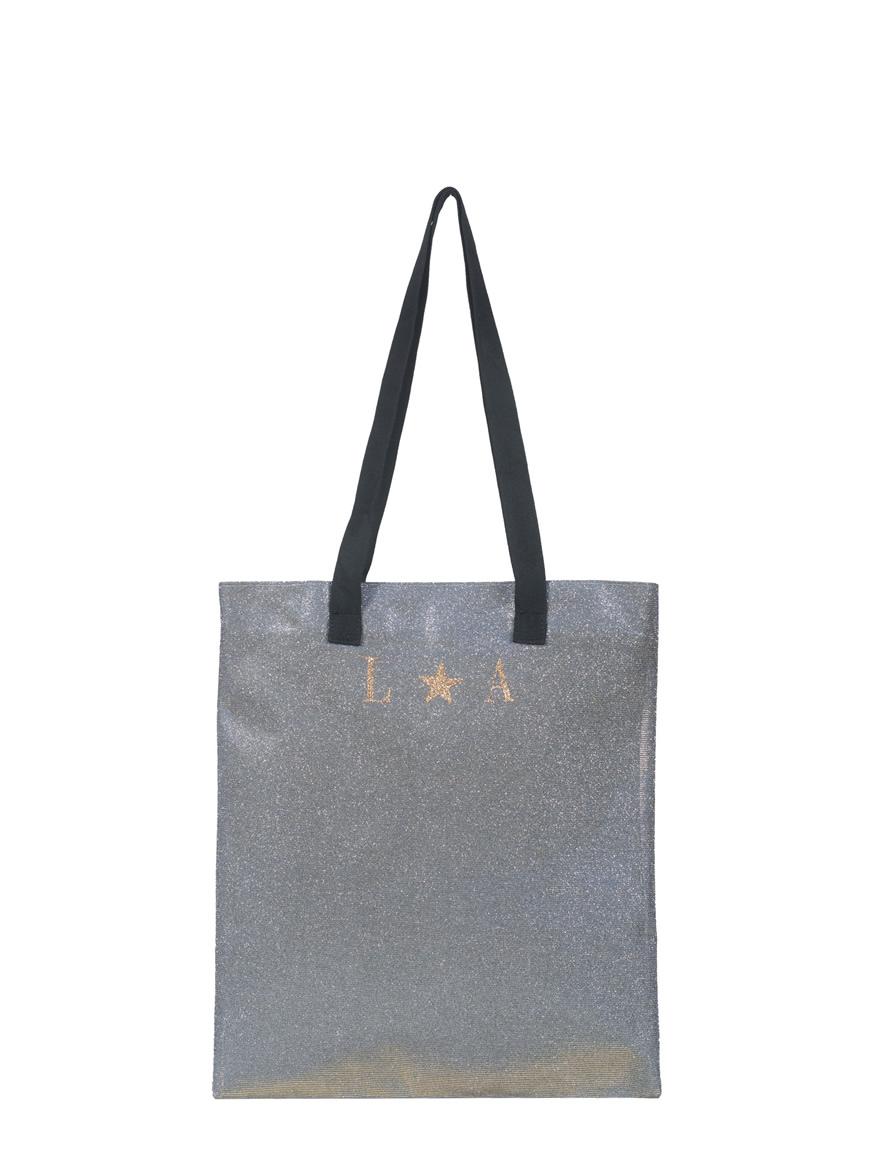 shopping small personalizzata-glitter taupe