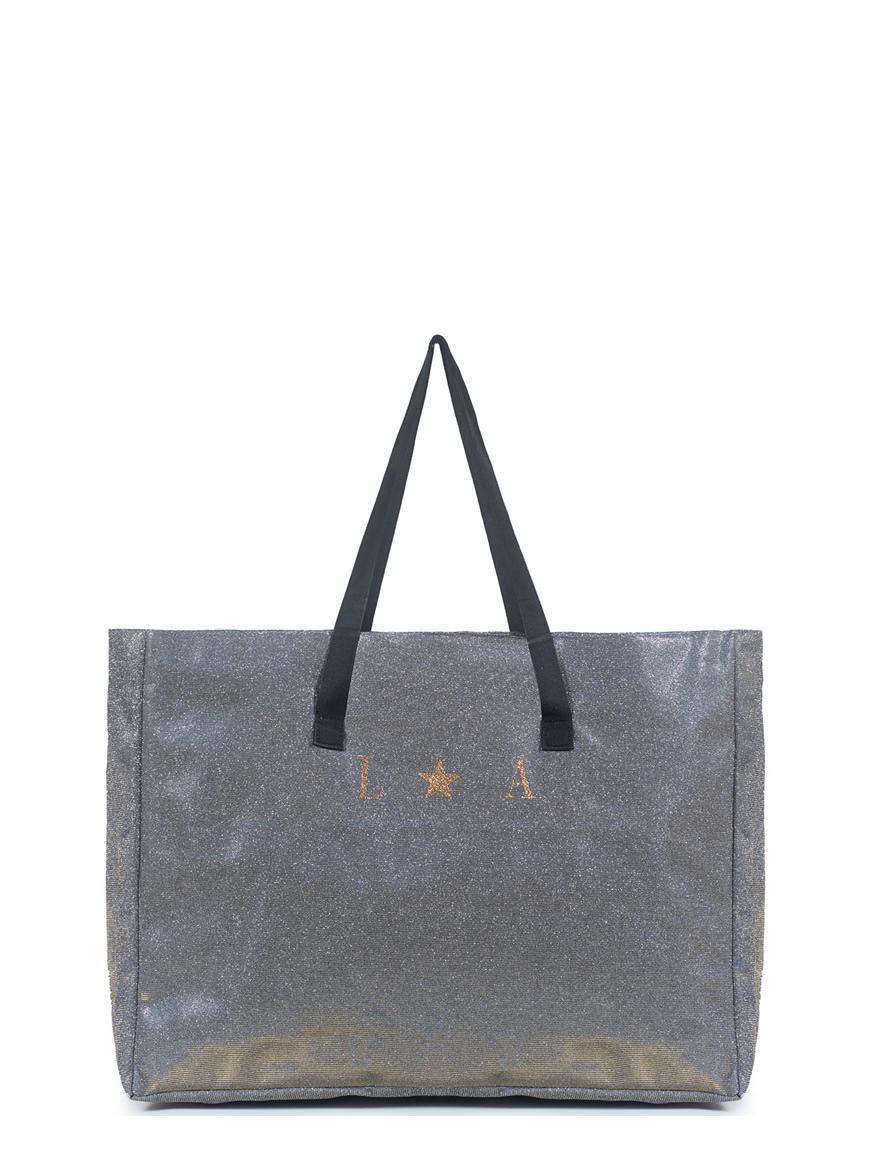 shopping xl personalizzata - glitter taupe