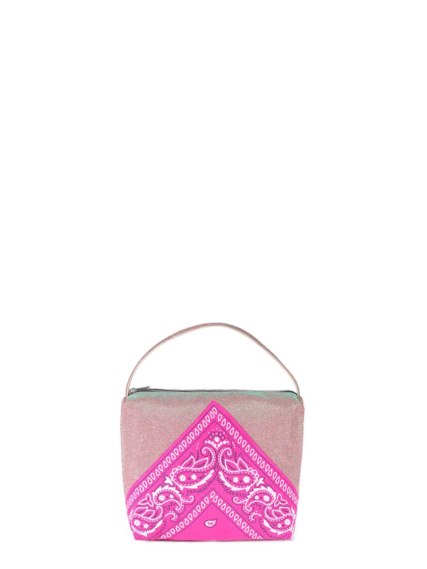 L'AURA astuccio big bandana glitter rosa – bandana fucsia